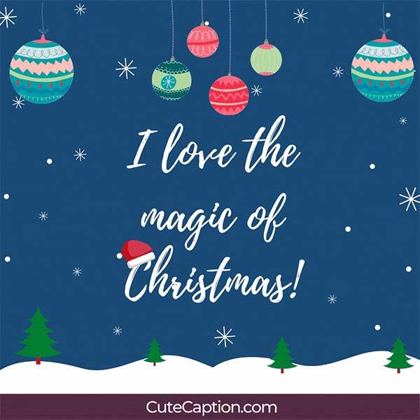 Christmas Insta Captions