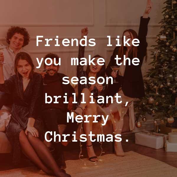 Friend Christmas captions